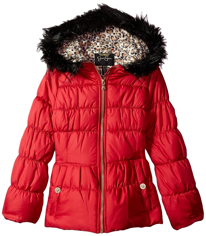 Jessica Simpson Girls' Big Heavyweight Hooded Coat Jacket with Headband P217A01
