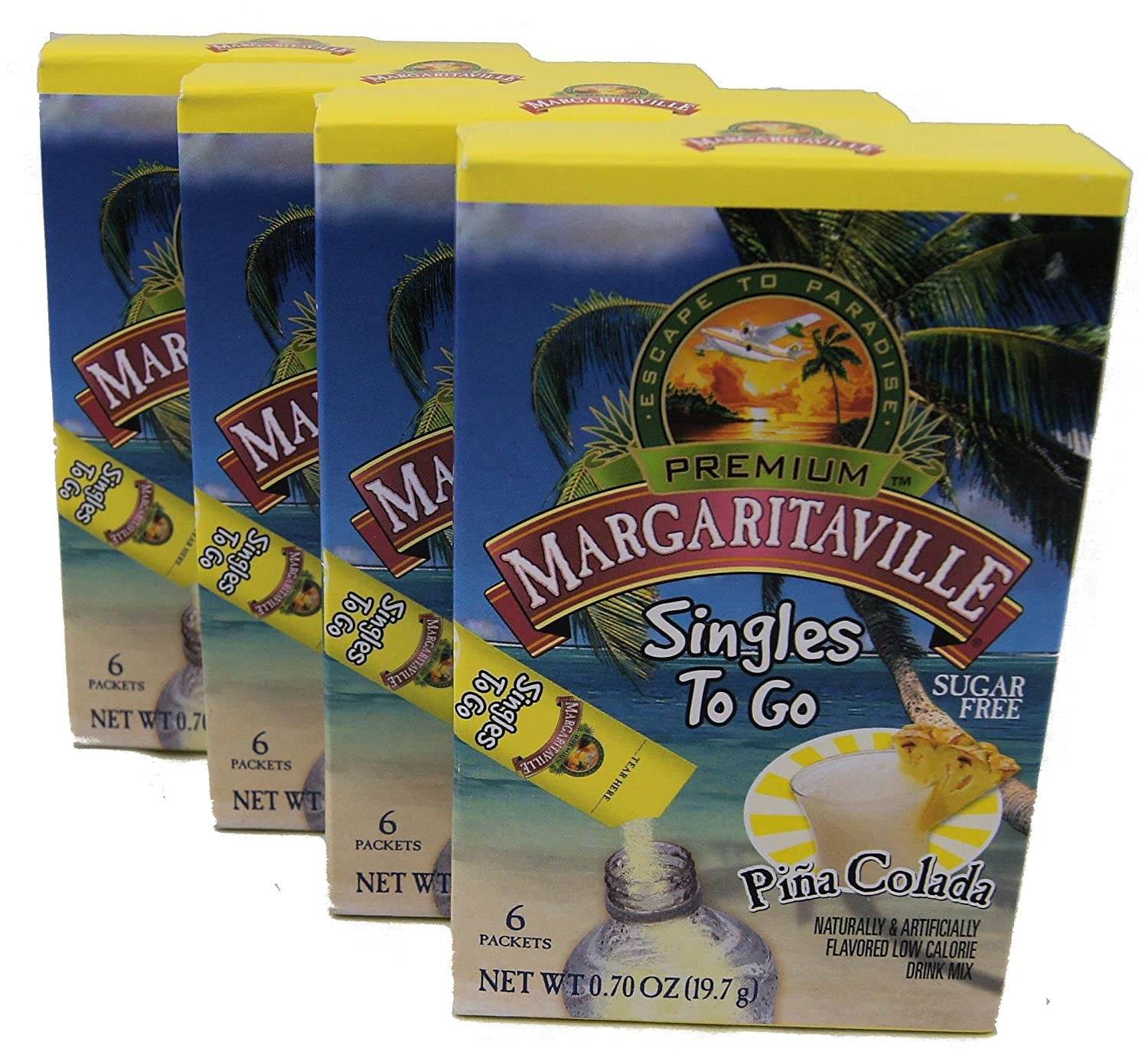 Margaritaville Pina Colada Singles to Go 6 Packets X 4 Boxes =24 Packets