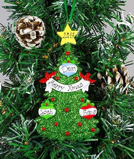 Green christmas tree decor personalised christmasxmas tree ornament green christmas tree decor personalised christmasxmas tree ornament decoration get your desired names publicscrutiny Gallery