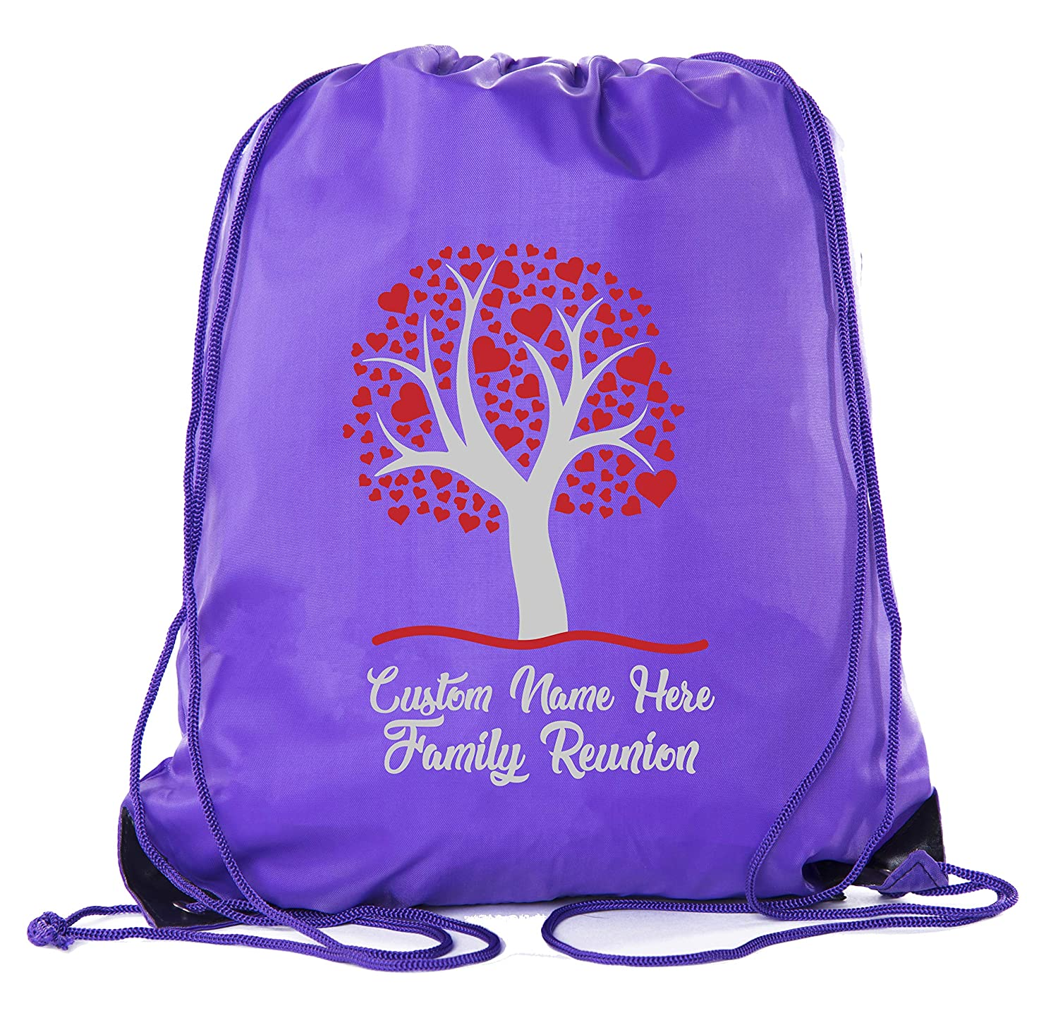 Family Tree with Hearts with Custom Name Family Reunion Party Favor Bags