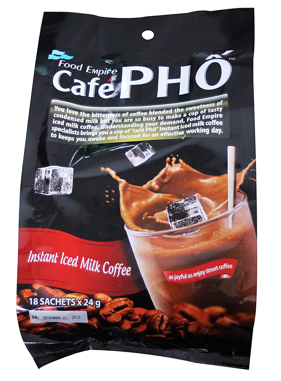 Amazon com : Cafe Pho instant iced Milk Coffee 18 sachets