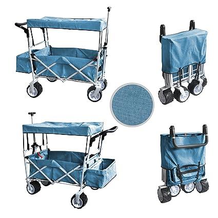 Amazon.com: Azul mango de tire y empuje carrito de carrito ...