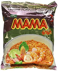 MAMA Instant Ramen Noodle, Tom Yum Shrimp Flavour (Pack of 30)