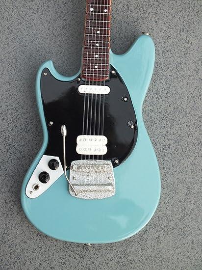 RGM623 Kurt Cobain azul guitarra en miniatura