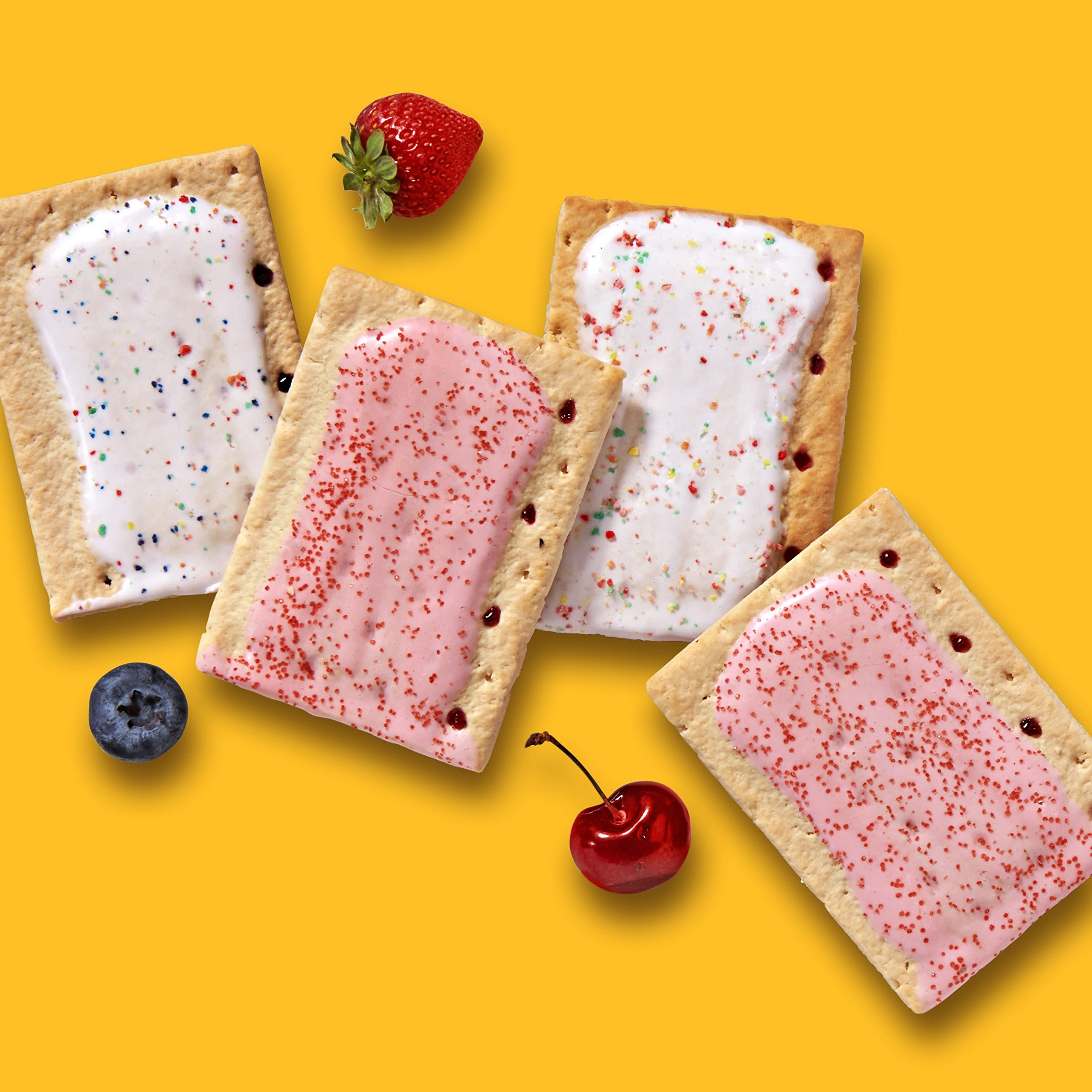 Pop-Tarts Breakfast Toaster Pastries, Flavored Variety Pack, Frosted Strawberry, Frosted Blueberry, Frosted Cherry, 12 Count,(Pack of 12) by Pop-Tarts (Image #6)