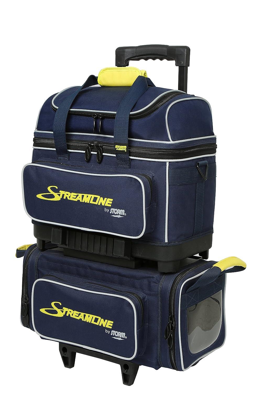 ベストセラー 嵐合理化4ボールローラーBowling bag-ネイビー Navy/Gray/Yellow/グレー/イエロー Navy/Gray/Yellow B01EXCD18I, クロネコ書店:1d925339 --- ciadaterra.com