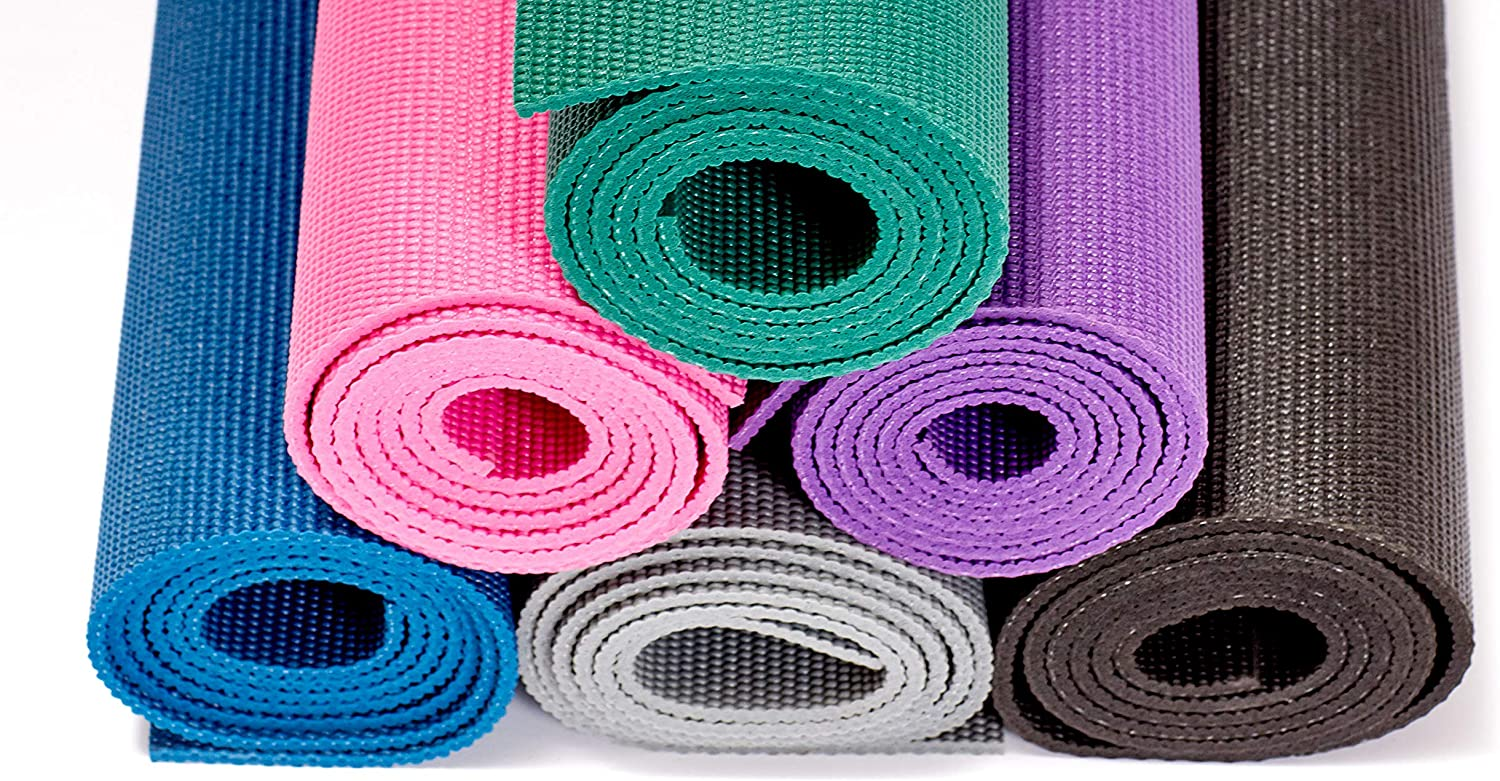 Gaiam Essentials Premium Yoga Mat with Yoga Mat Carrier Sling 72L x 24W x  1//4 Inch Thick