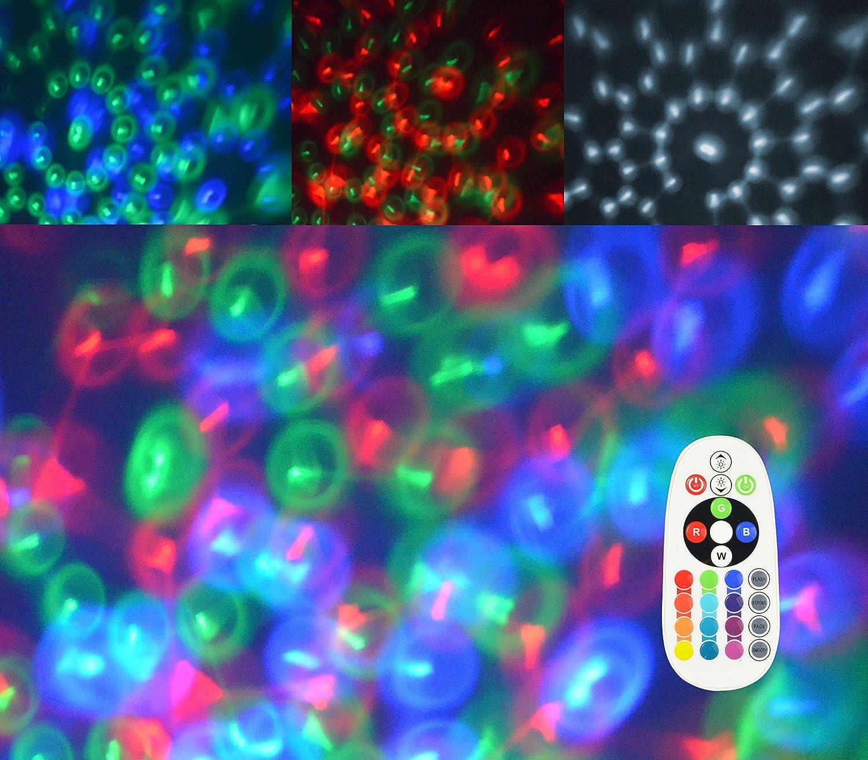 X4-Life Ampoule LED rotative RGB+W avec t/él/écommande