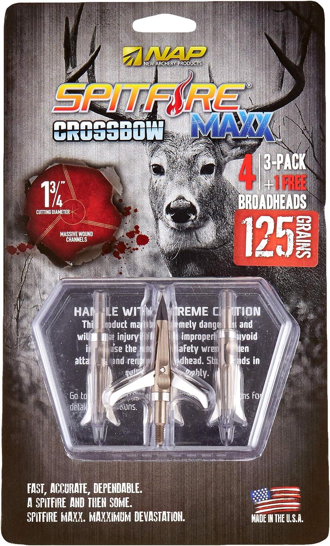 New Archery Products NAP Spitfire Maxx 125 X-Bow Tt 4-Pack