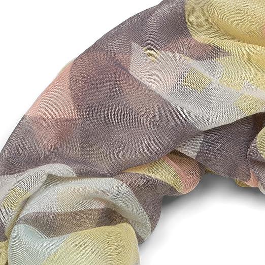 styleBREAKER Snood avec motif imprimé aztèque Kelim, écharpe tube, foulard  loop, femmes 01016161, couleur Bleu clair-rose-noir-blanc  Amazon.fr   Vêtements ... 59c8c3580f3