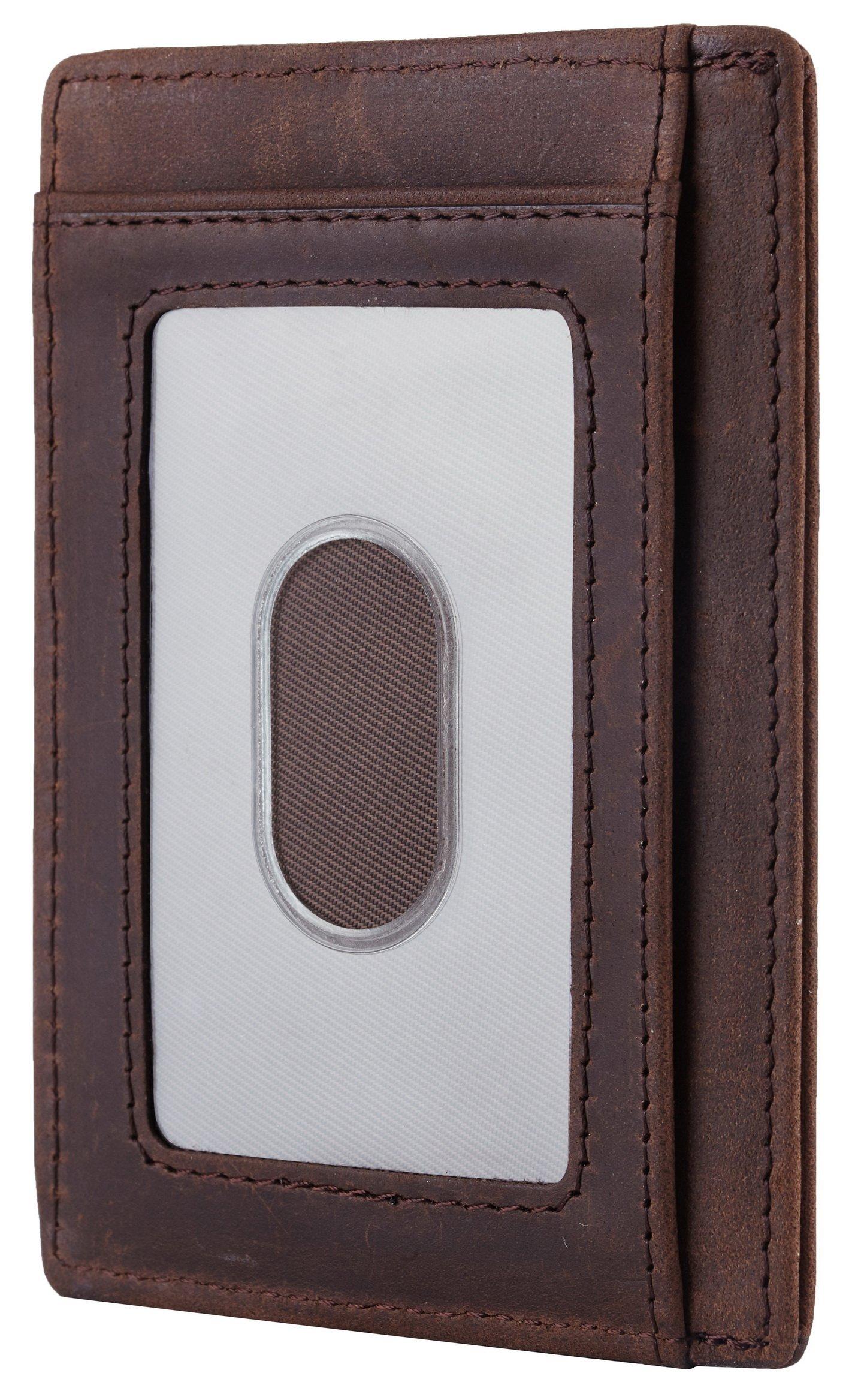 NapaWalli Wife To Husband Gift Best Anniversary Birthday Gifts For Him Genuine Leather RFID Blocking slim Wallet Card Holder (Hunter Coffee) by NapaWalli (Image #2)