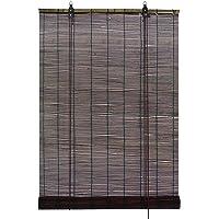 GARDINIA Bamboe-rolgordijn, choco, plafond- of wandbevestiging, lichtdoorlatend, ondoorzichtig, alle montage-onderdelen…