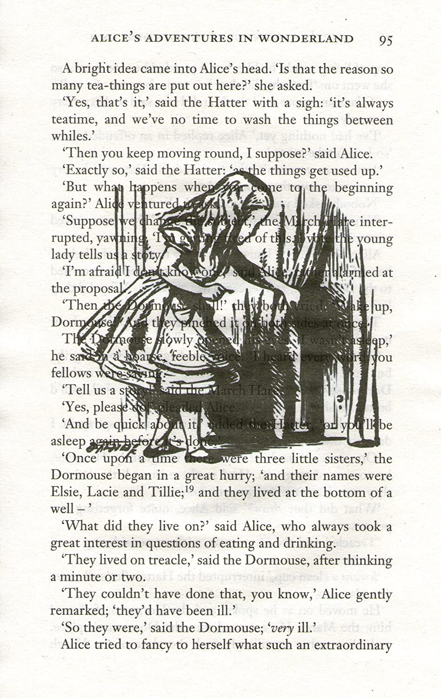ALICE IN WONDERLAND ART PRINT - ARTWORK - GIFT - ART PRINT - Illustration - Book Page Art Print - Wall Hanging - Home Décor - Housewares - Book Print - Wall Art Vintage Reflectionz
