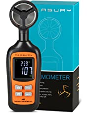 Measury Windmesser Hand, Windmessgerät Digital mit Beaufort Anzeige Windstärkemesser Windgeschwindigkeitsmesser Kiten Surfen Drohne