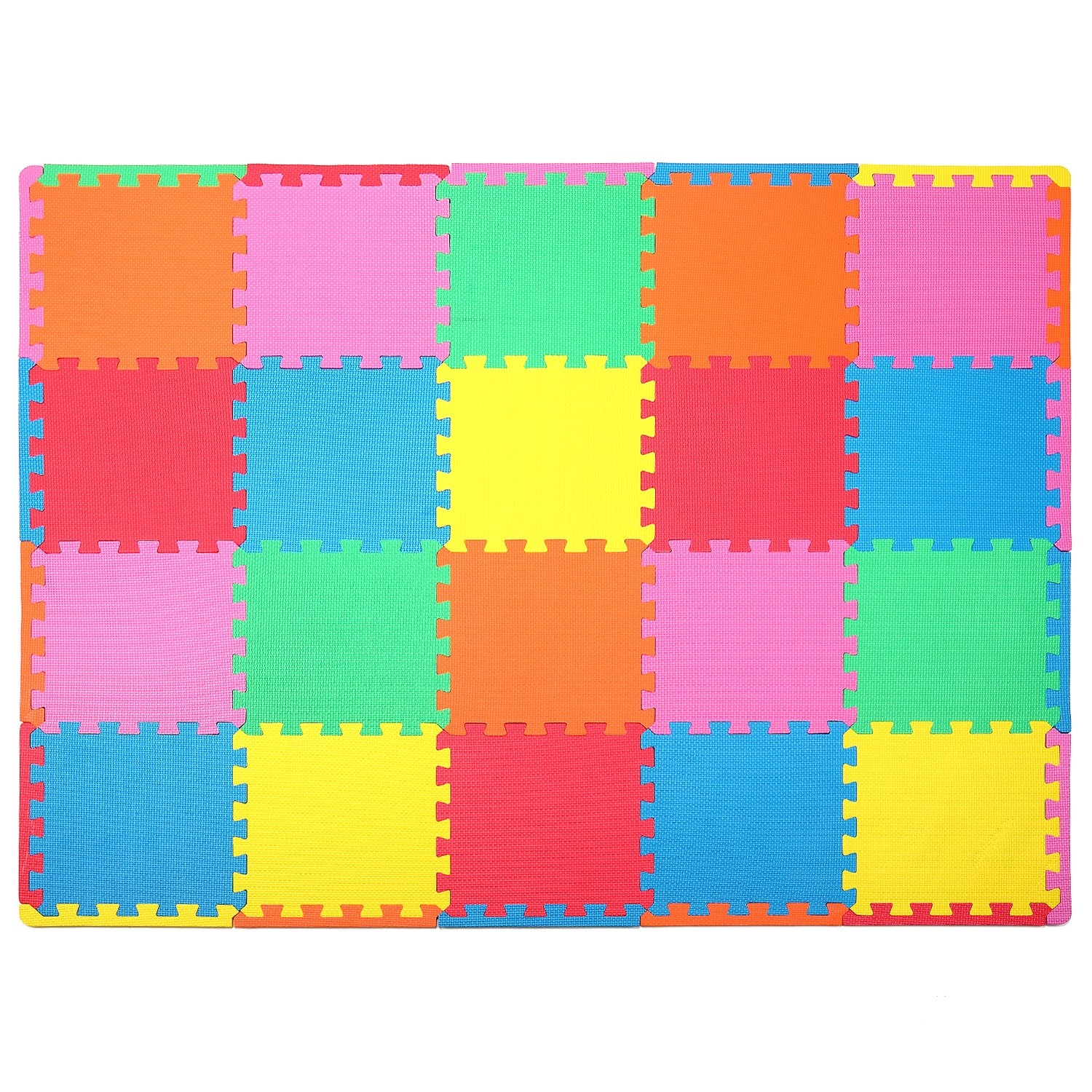 Joy Mags Puzzle Mat Baby Kid Toddler Play Crawl Mat with 20 Interlocking Tiles