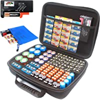 Large battery storage organizer case with battery tester, hold over 180 pcs batteries(no batteries included)