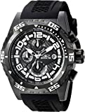 Invicta Men's 'Pro Diver' Quartz Stainless Steel and Silicone Casual Watch, Color:Black (Model: 24716)