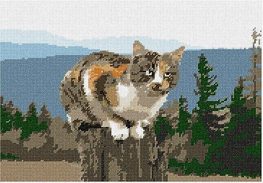 pepita Painted Cat Needlepoint Kit
