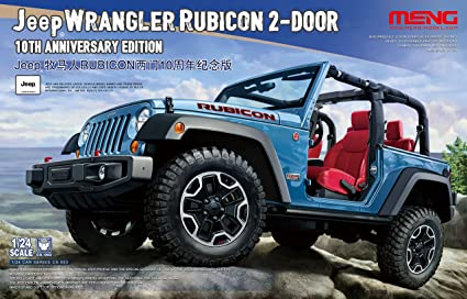 Amazon Com Mngcs003 1 24 Meng Jeep Wrangler Rubicon 2 Door 10th