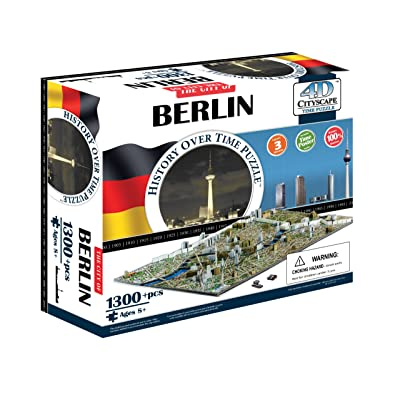 4D Cityscape Berlin Time Puzzle: Toys & Games