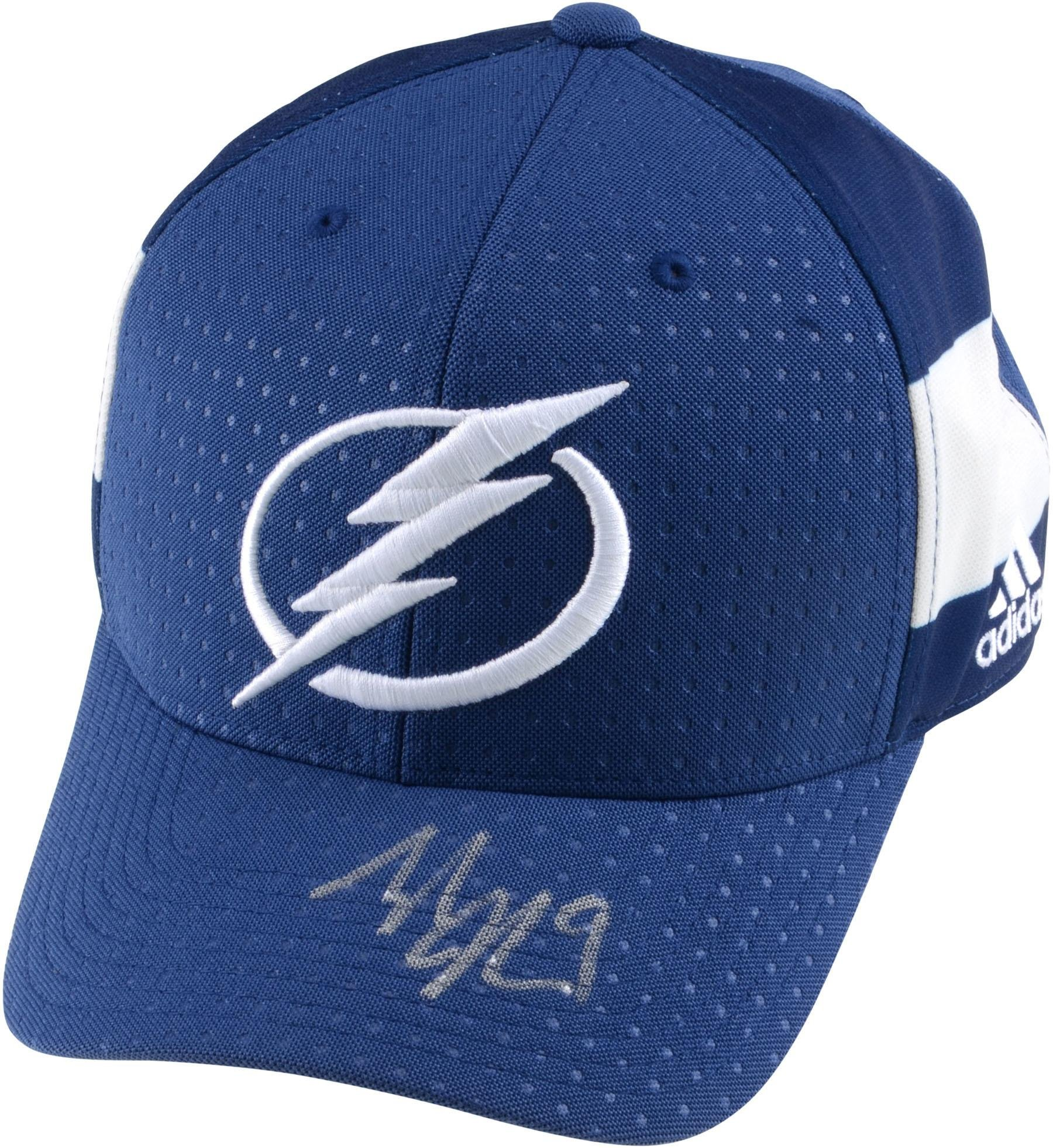 Tyler Johnson Tampa Bay Lightning Autographed Adidas Cap Fanatics Authentic Certified Autographed NHL Hats