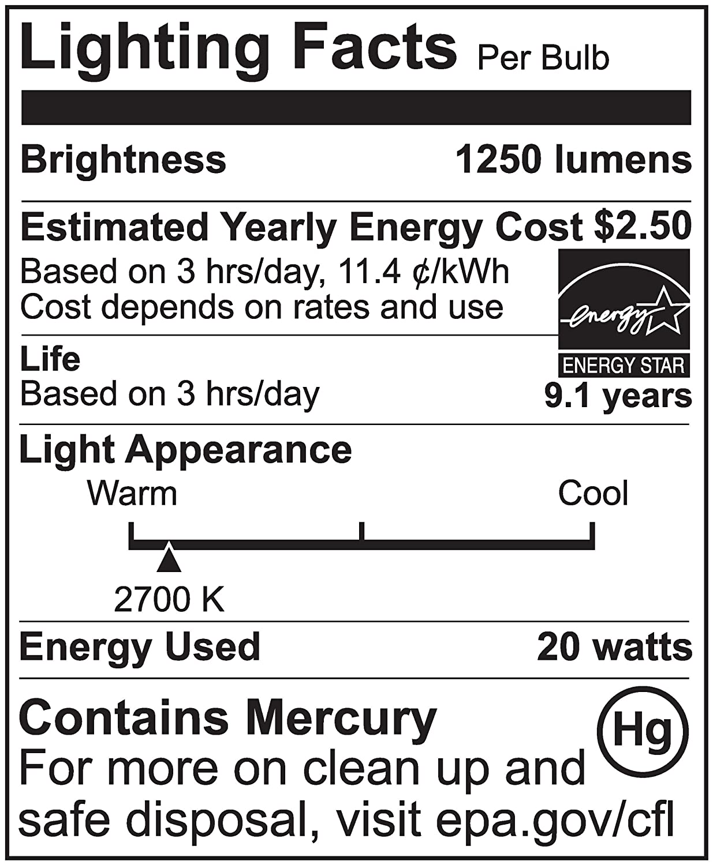 Havells 26158 Compact Fluorescent 20-Watt Spiral T3 Light Bulb