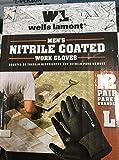 Wells Lamont Nitrile Coated Work Gloves 12 Pairs Large
