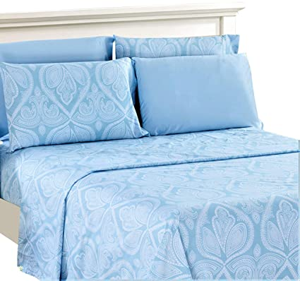 6159a6b88e Lux Decor Collection Bed Sheet Set - Brushed Microfiber 1800 Bedding -  Wrinkle, Stain and
