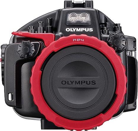 Olympus PT-EP14 - Caja estanca para cámara E-M1 Mark II, Negro y Rojo: Amazon.es: Electrónica