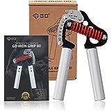 GD fortalecedor de agarre de mano, agarre de hierro ligero 80 agarre de mano ajustable (55 a 176 libras) ejercitador de…