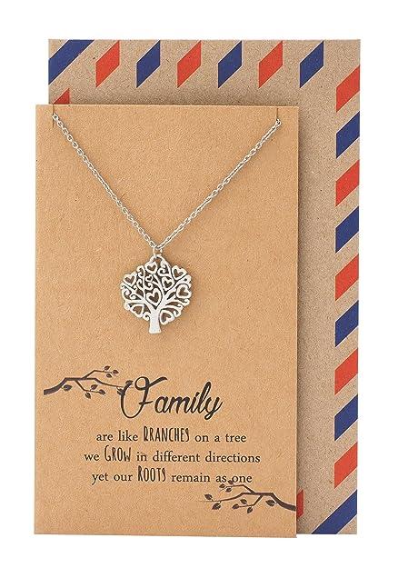 Amazon.com: Quan Jewelry Celtic Tree of Life Necklace, Mom\'s ...