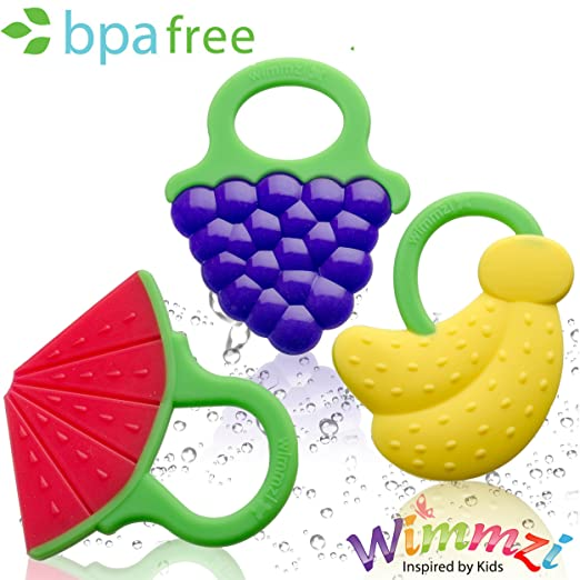 Fruit Shaped Educational Toy Massaging Teethers