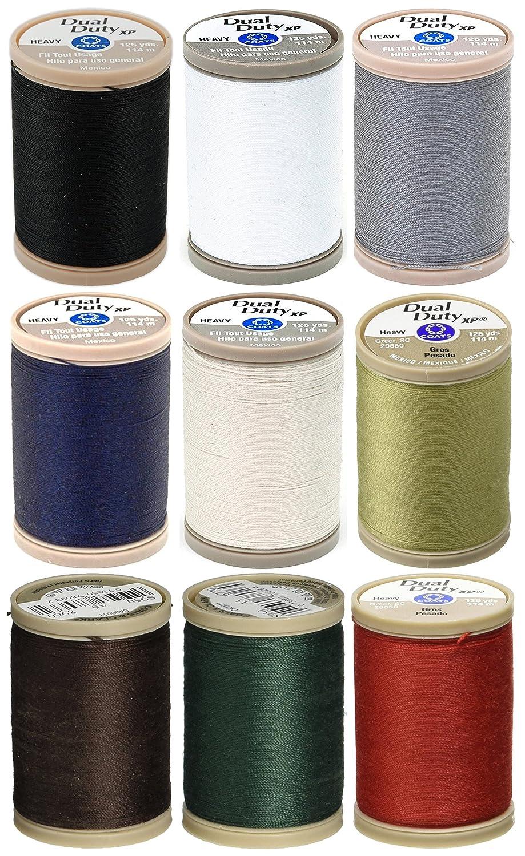 Silver Thread 125yd Coats /& Clark Metallic Thread 125-yard