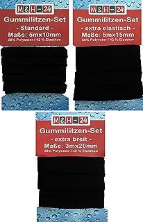 0,55€//m 2m Gummiband, Wäschegummi Gummilitze 20mm