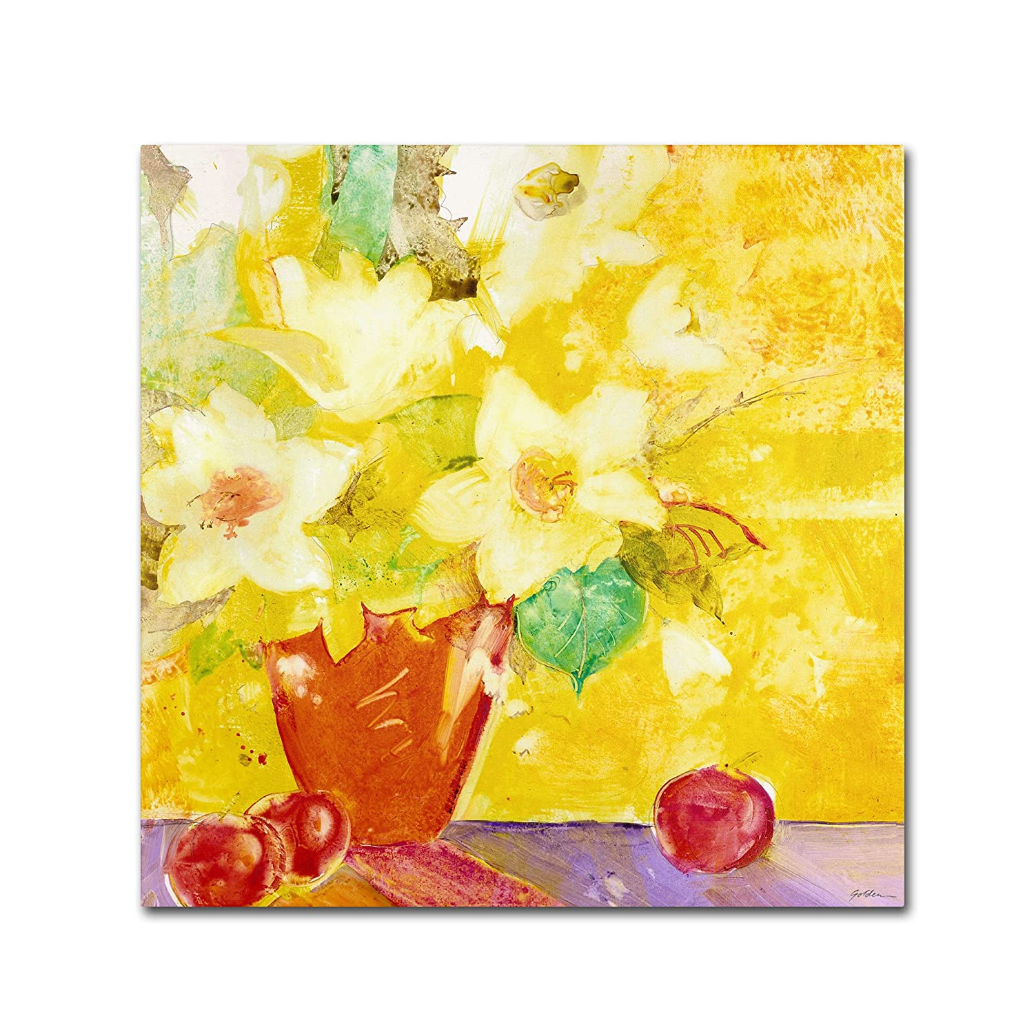 Trademark Fine Art レッド花瓶 Apple Artwork by Sheila Golden 35by35-Inch SG5667-C3535GG B00G6J3RZO  35by35-Inch