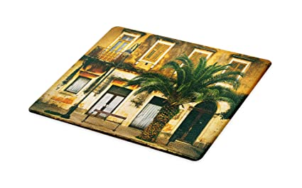 5c62a033cdc01 Amazon.com: Lunarable Tree Cutting Board, Old-Fashioned ...