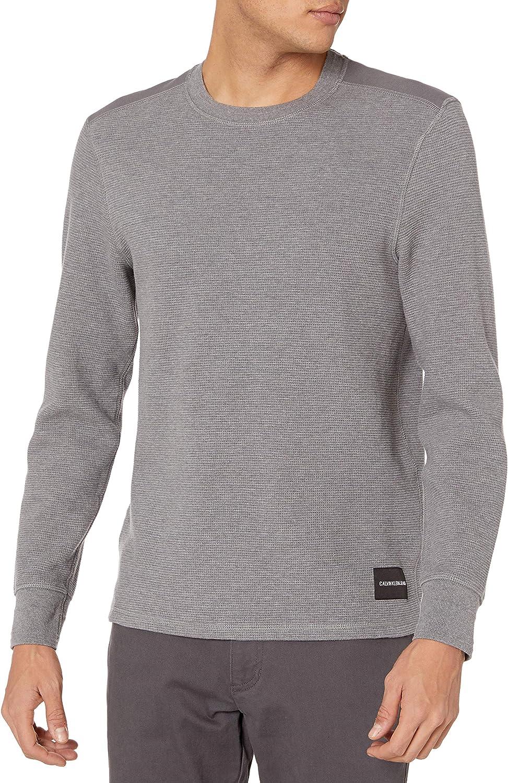 Calvin Klein Camisa térmica de manga larga con cuello redondo para hombre - Gris - XX-Large: Amazon.es: Ropa y accesorios