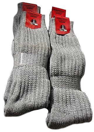 Brubaker - Calcetines de media para esquí (4 unidades, lana de oveja) Calcetines