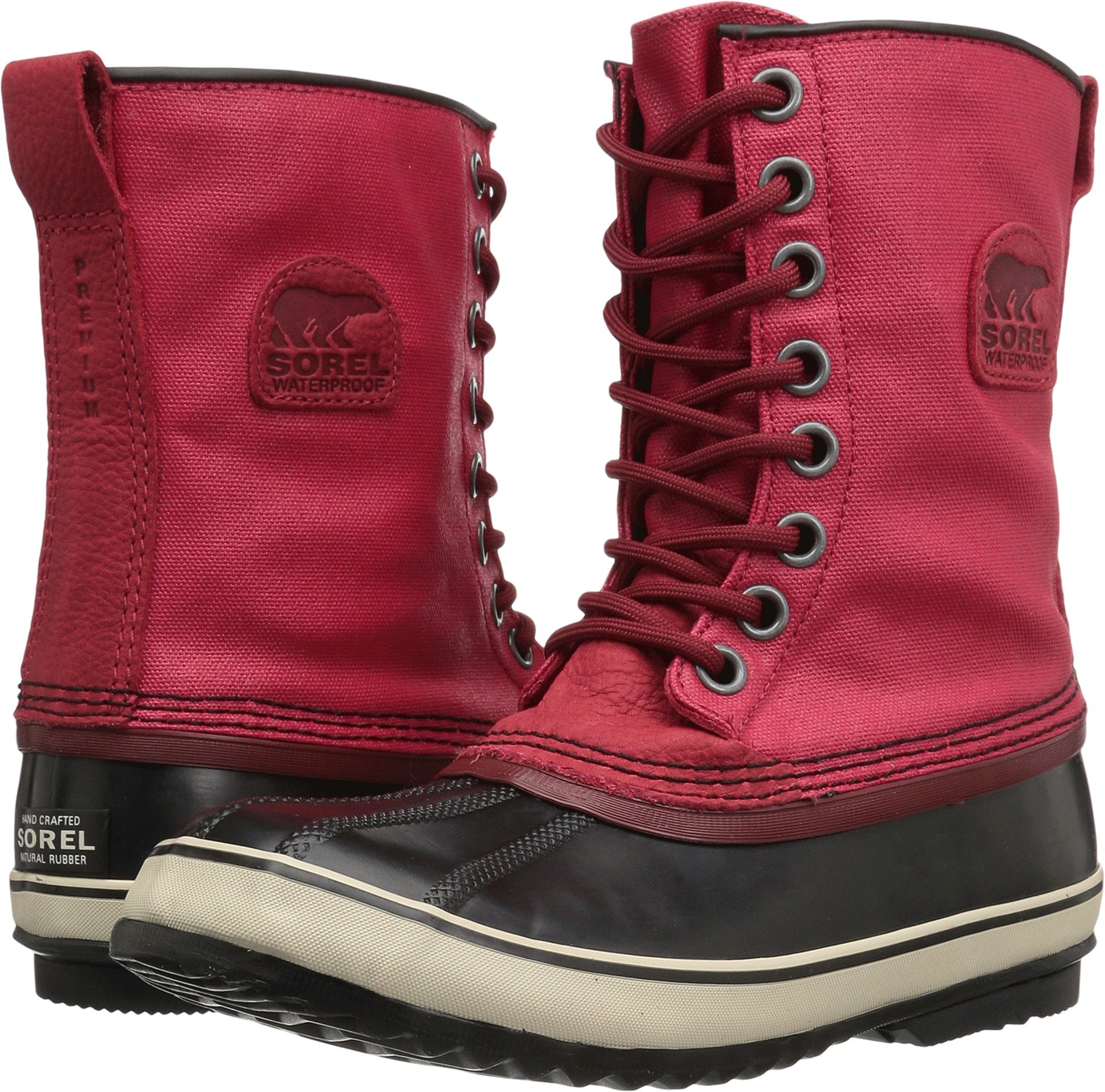 SOREL Women's 1964 Premium CVS Mid Calf Boot, Candy Apple, Red Element, 9 B US