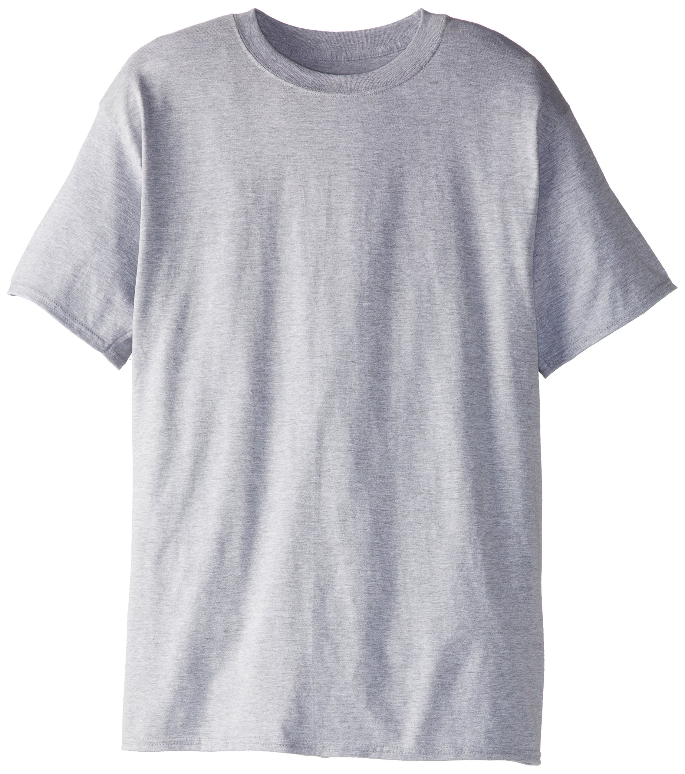 Hanes Men's Tall Short Sleeve Beefy-T, Light Steel, XX-Large/Tall (Pack of 2)