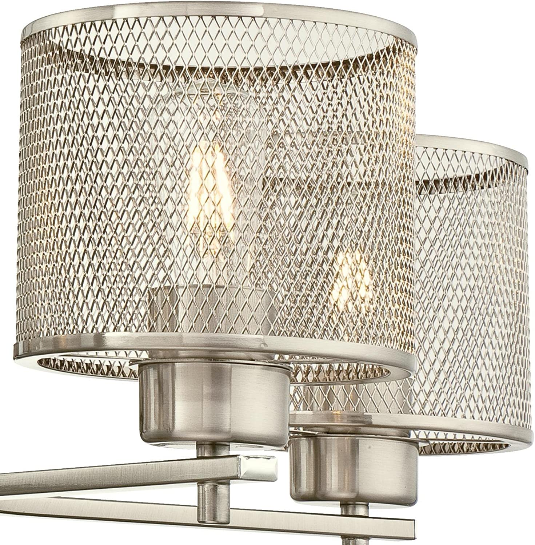 Westinghouse Lighting 6327500 Morrison Five-Light Indoor Chandelier, Brushed Nickel Finish with Mesh Shades