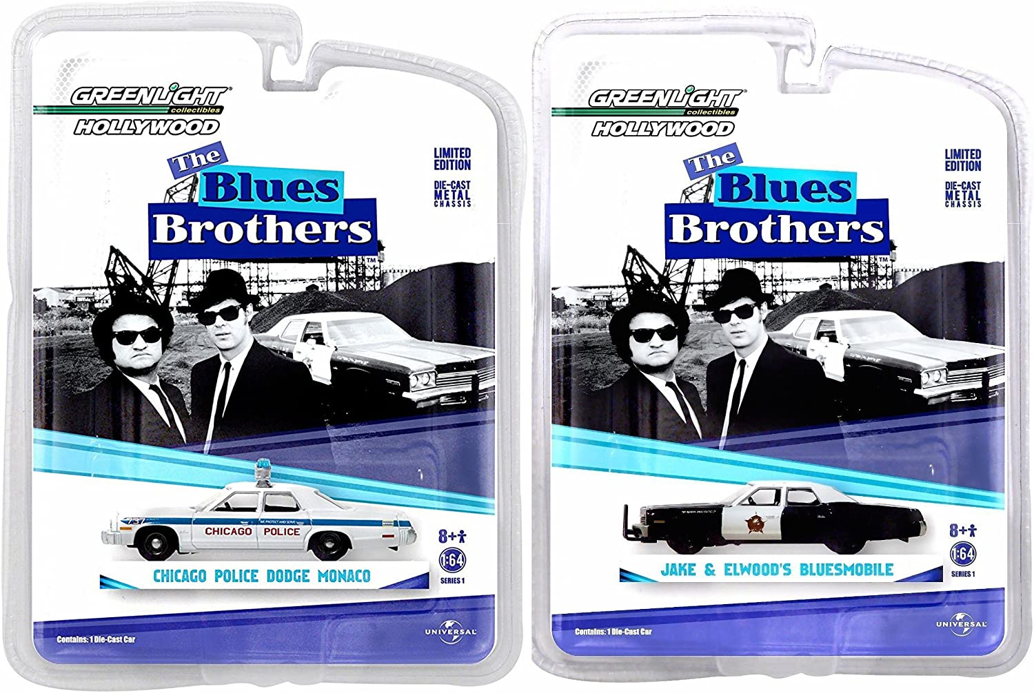 1980 1:64 Scale - 1974 Dodge Monaco Bluesmobile Vehicle GreenLight Collectibles Blues Brothers