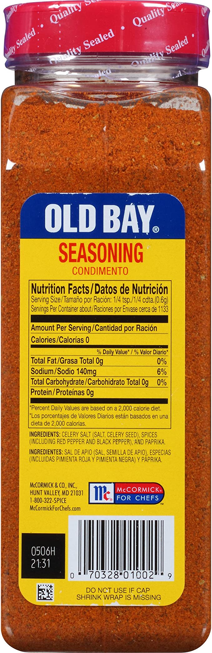 McCormick Old Bay Seasoning for Seafood, Poultry, Salads, Meats in ...