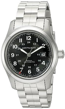4e04e6494 Amazon.com: Hamilton Men's H70515137 Khaki Field Automatic Watch ...