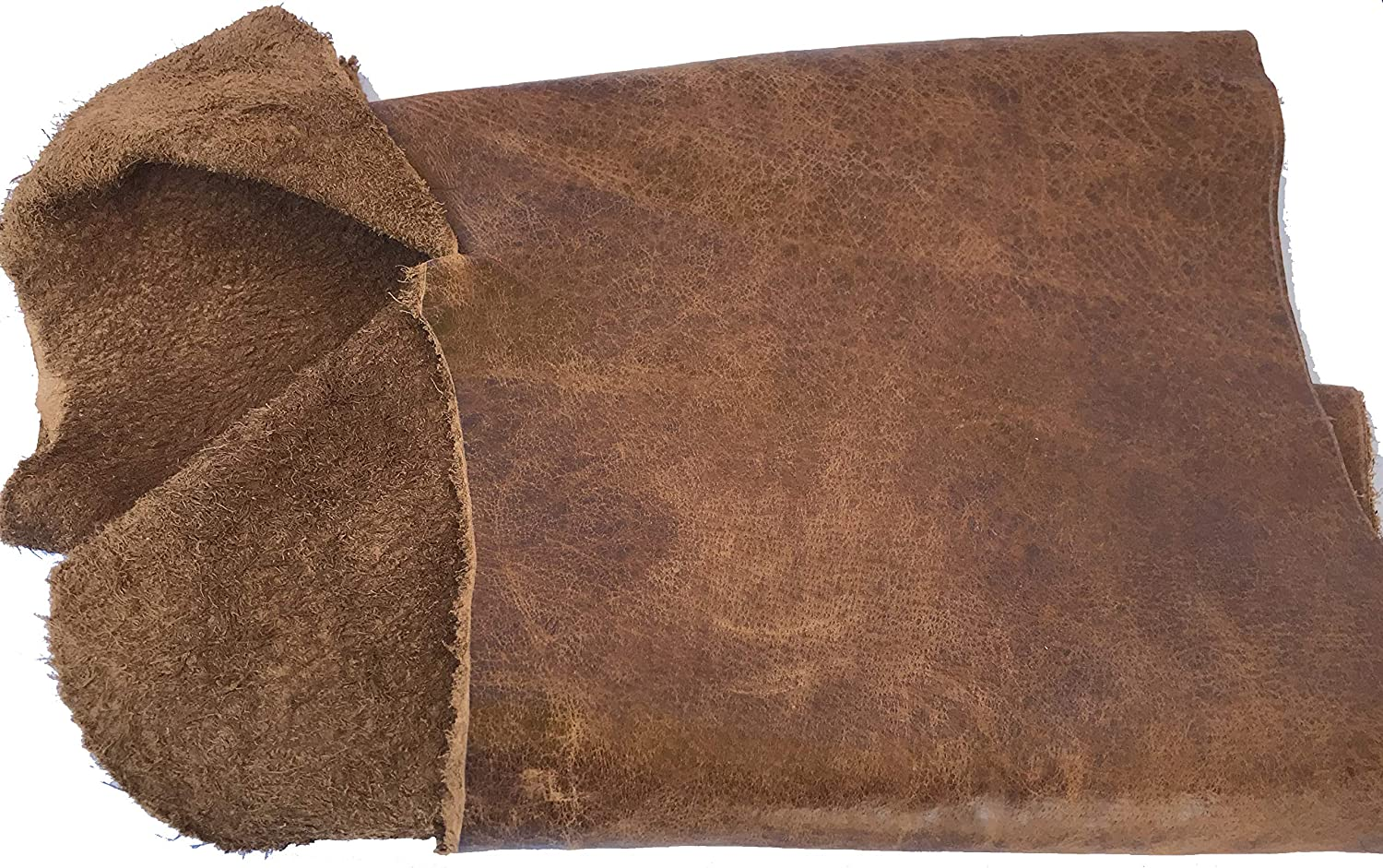 leather scraps; eco friendly; scrapbooking; crafting; leather working Beige DAMAGED LARGE Perforated Cowhide Genuine Leather Piece 3P1