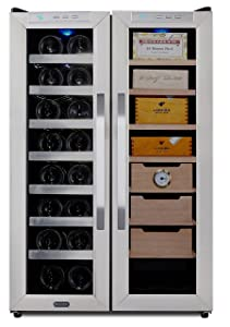 Whynter CWC-351DD Freestanding 3.6 cu. ft. Wine Center Cigar Cooler Humidor One Size Stainless Steel/Black