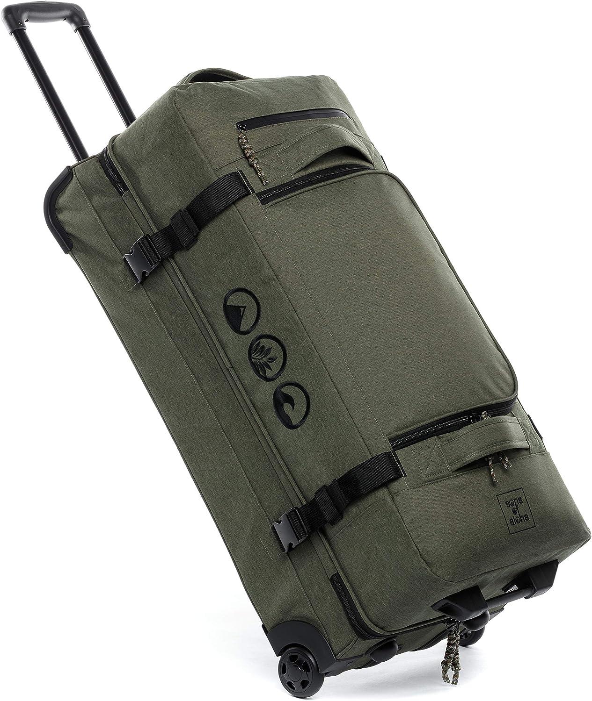 Bolsa de Viaje XL con 2 Ruedas Maleta Kane Trolley de 80 cm Bolsa de Deporte Grande Trolley 120L Verde-Oliva