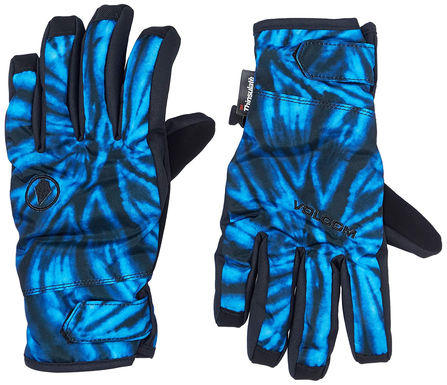 Volcom mens Nyle 2 Layer Nylon Shell Snow Glove Cold Weather Gloves