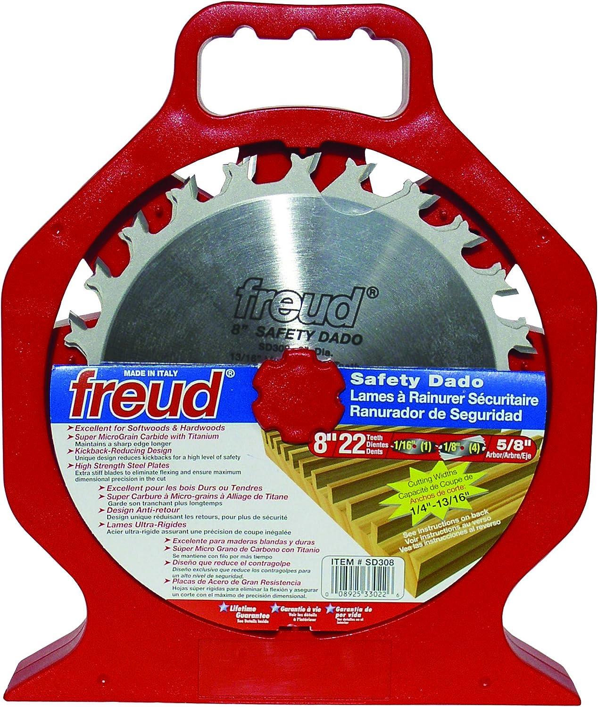 Freud SD206 6-Inch Heavy Duty Anti-Kickback Splinter-Free Dado Blade Set