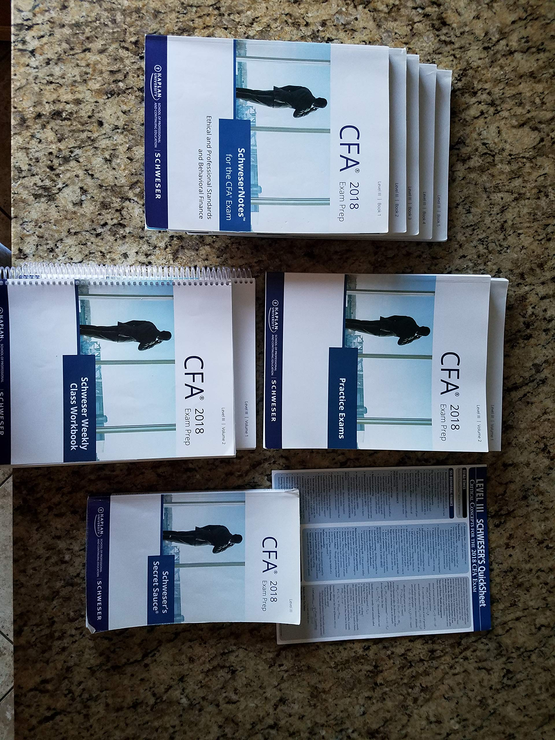 2018 CFA Level 3 Kaplan Schweser: Books 1-5, Practice Exam